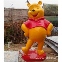 Garden Decoration Fiberglass Life Size Winnie Statue