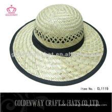 Модная круглая соломенная шляпа