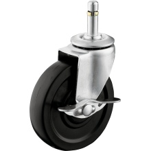 Light Duty Gummi Rad mit Bremse