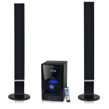 2.1 altofalante home de madeira do bluetooth da torre