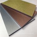 Panel compuesto de aluminio cepillado de oro ACP