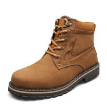 Pele morna dentro de homens de couro genuíno homens de inverno neve botas sapatos