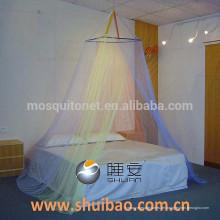 SHUIBAO quadratisches Dach vier Farbe rundes Bett Baldachin