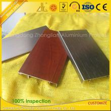Panneau en aluminium de mur de profil en bois de revêtement de poudre de Customzied