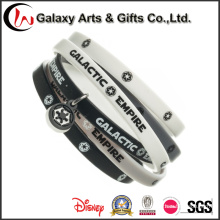 Colorful Rubber Band Narrow Silicone Wristband with Your Own Logo