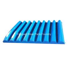 Pièces de concassage d'acier à haute teneur en manganèse d'équipement de concassage