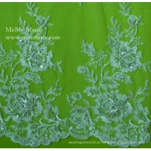 Tecido de renda 2014 para vestir Desgin Home com bordado de cinto revestido Appliqued No.CA025B