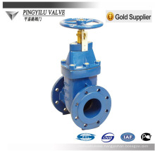 DIN standard PN10 soft sealing cast iron bronze trim gate valve
