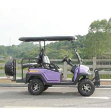 China 4-Sitzer-Wagen-elektrischer Golfmobil mit Ersatzreifen
