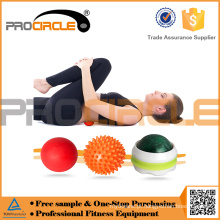 Mão da bola de Masage das bolas de lacrosse do PPE do PVC do OEM de ProCircle