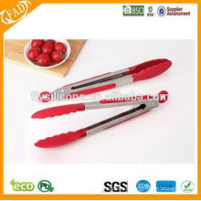 Food Grade Silicone Food Tongs Kitchen Gripping Tongs/Silicone Grip Kitchen Tongs/Stainless Steel Food Tongs
