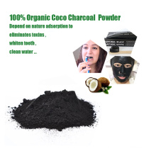 Natural teeth whitening coconut charcoal powder bamboo charcoal