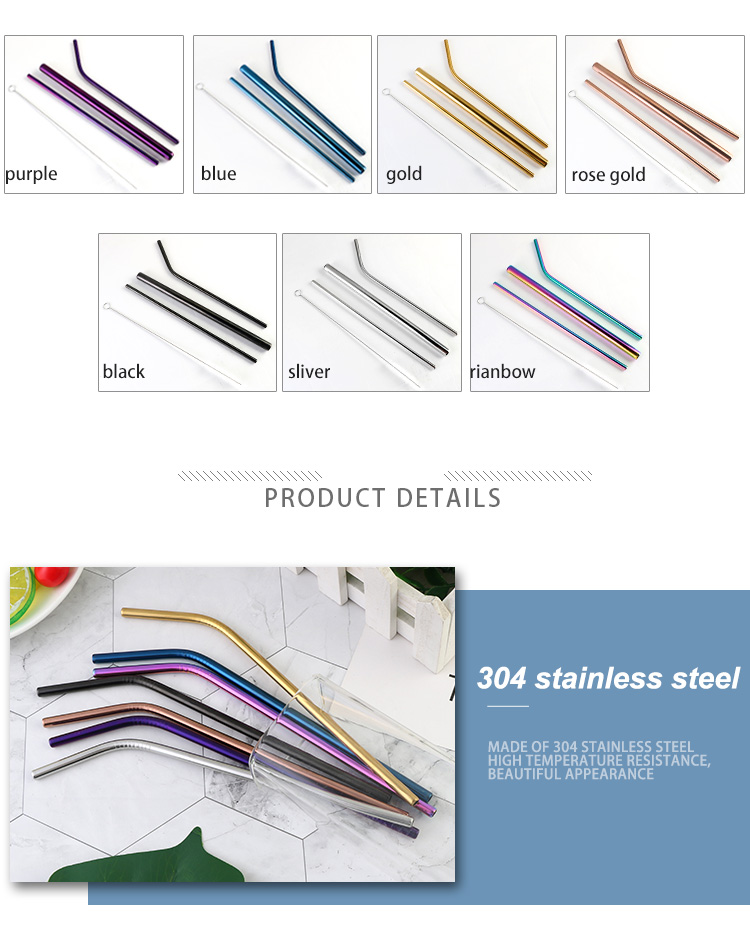 304 Stainless Metal Straw