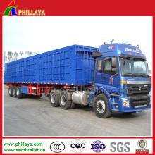Remorque hydraulique de décharge de dumping de côté de camion d'axe 3