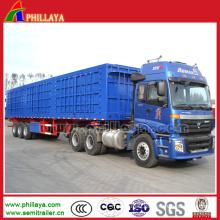 3 Axle Tractor Truck Side Dumping Hydraulic Dump Trailer
