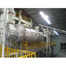 Secador de tambor giratório único de Hzg para grânulos químicos