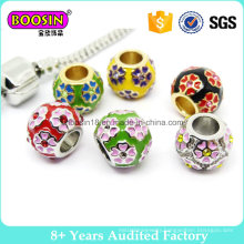 Colorful Bracelet Jewelry Charm Elegant Flower Beads Metal Charm & Pendant #14605