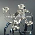 Pièce maîtresse en cristal de chandelier de forme de U pour des faveurs de mariage
