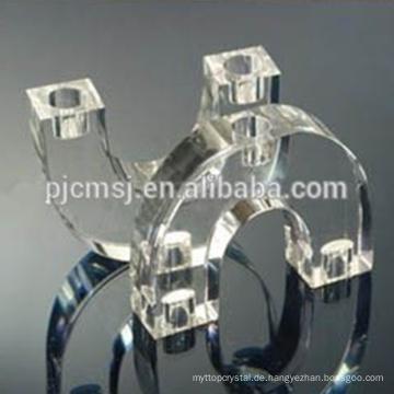 U-Form-Glaskerzenständer-Kristallmittelstück für Hochzeits-Bevorzugungen
