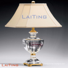 Modern Clear Glass Table Lamps With White Shades LT-2143