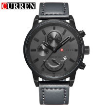 fashion quartz watch with sub-dial swiss design