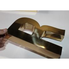Полированный Золотой Титана Письмо Размерные Знаки Письма