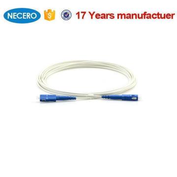 Cable de conexión interior SC SM 9/125 fibra simplex KFRP G652D LSZH FTTH para sistemas de cableado Benin