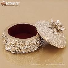 Boîte de rangement haut de gamme élégante pour bijoux pour cadeau fille