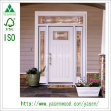 White Non-Standard Entrance Solid Wood Door