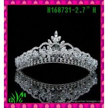 Nueva corona de la joyería del rhinestone de la manera de la estrella del desfile de los diseños una tiara