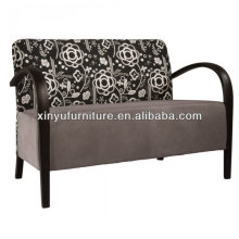 Soild wood with fabric cover 2 seater hotel arm sofa XY3376