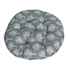 Good quality Japanese mat round cotton and linen style chair cushion for office