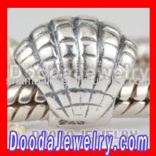 Fashion European Silver Seashell Charms For Bracelets