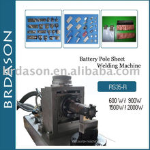 Battery pole welding machine