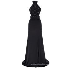 Kate Kasin cabestro de las señoras de alta división de poliéster y spandex barato negro largo vestido de baile tamaño 7 EE.UU. ~ 4 ~ 16 KK001030-1