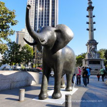 Diseño popular Antique Style Metal Craft Indian Bronze Sculpture Elephant