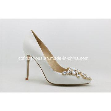 Fashion Sheepskin High Heels Wedding Women′s Shoes