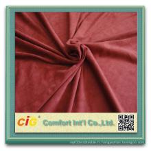 100% Polyester Tissu en daim pour l'ameublement Tissu en daim