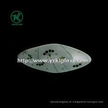 Única parede cor placa de vidro por SGS (klp130402-26)