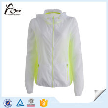 Windbreaker Atlético Wear Lightweight Jacket para as Mulheres