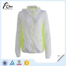 Jaqueta de peso leve de jaqueta corta-vento para mulheres
