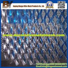 Hoja de metal expandido de aluminio para el panel decorativo de la pared