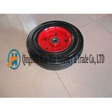 16 Inch High Load Capacity Flat-Free Rubber Wheels Made in Qingdao
