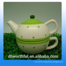 Popular ceramic teapot with cup