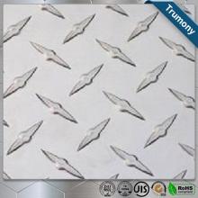 Hoja de aluminio a cuadros decorativa personalizada en relieve
