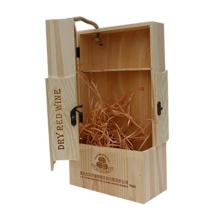 Caja de embalaje de vino de madera hecha a mano de diseño único caja de madera para vino