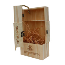 Unique design handmade wooden wine packing box wooden box for wine