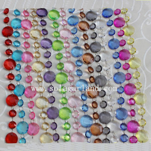 Fashion Acrylic Octagon Beaded Garland Strands for Christmas Tree
