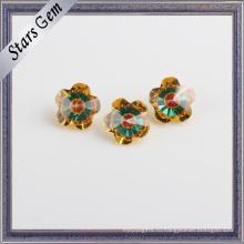 Цветок 7X7mm популярные смешанные цвета блестящий кубический цирконий камень