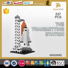 Brinquedo educacional A estação transmissora diy building block